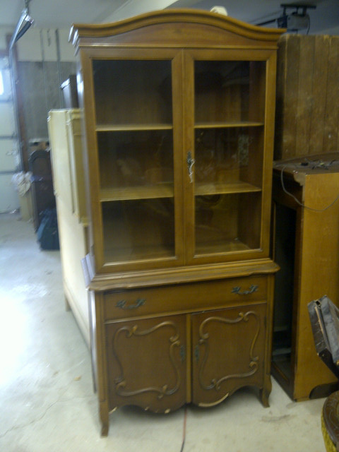 French Provincial China Cabinet .. Before