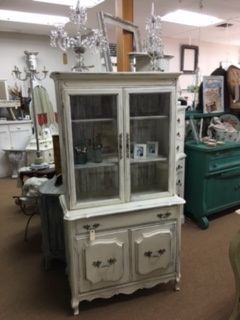 Small French Provincial Hutch.. Book Case ... Display Case