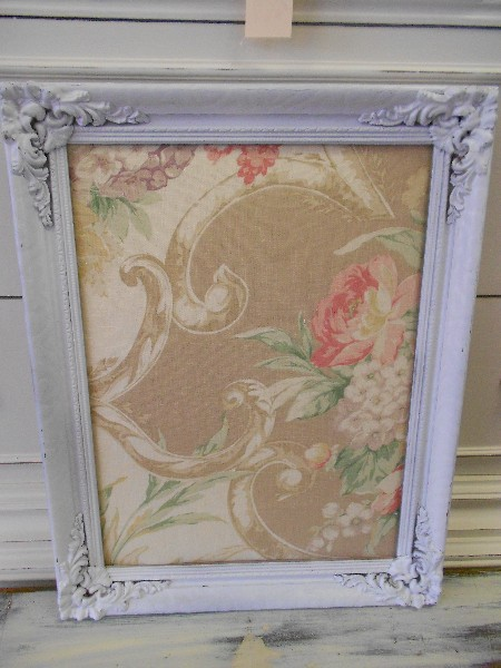 Small Message Board with Linen Floral