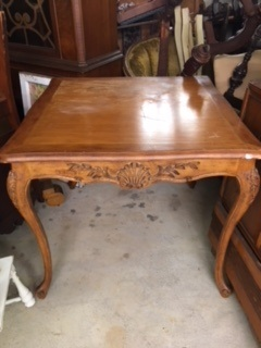 "35"" Square Wood Table"