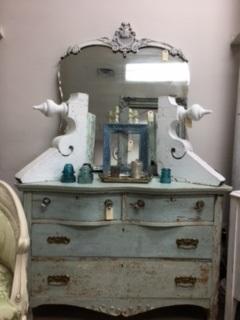 Vintage Dresser...  Original Paint...  VERY Distressed