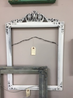 Vintage Frame with Carved Top