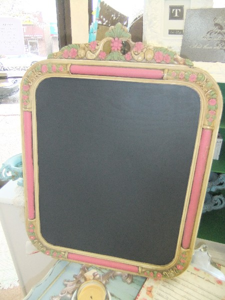 Vintage Frame Made into a Chalk Board