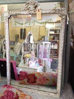 Vintage Mirror Distressed