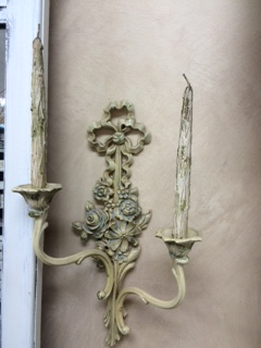 Vintage Sconce with ORIGINAL Candles