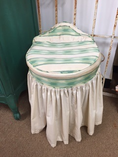 Vintage Vanity Chair with Skirt
