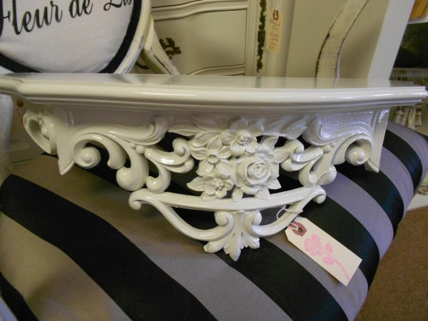 Creamy White Wall Shelf ...  or ...  Bed Crown