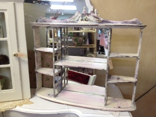 Shelf with Mirror Back