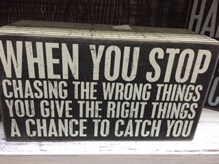 Chasing the Wrong Things