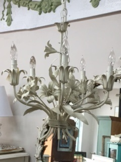 White Metal Flower Chandelier