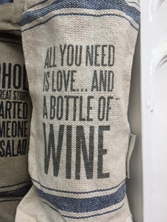 Wine Bag ....  ALL YOU NEED IS LOVE AND A BOTTLE OF WINE