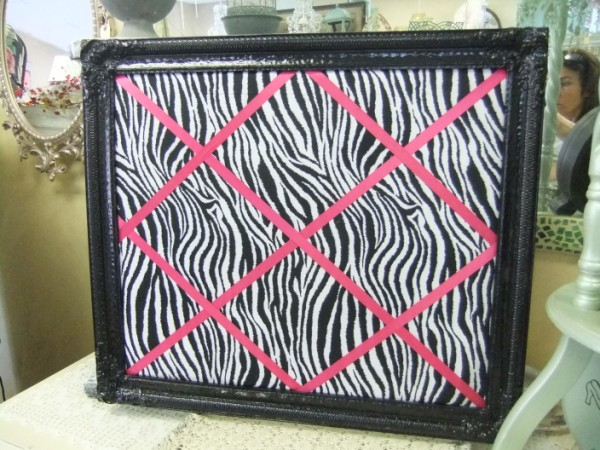 Black and White Zebra with Hot Pink